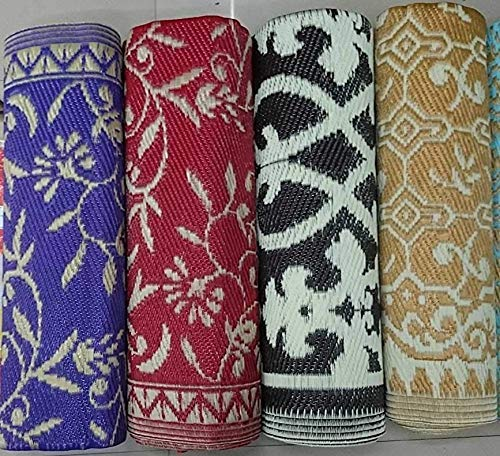 Ivaan Plastic Floor Mat Plastic Mat (Chatai) Multi Color and Design