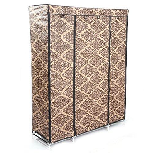 Soogo 4-Layer 10 Lattices European-style Pattern Non-Woven Fabric Wardrobe by Soogo