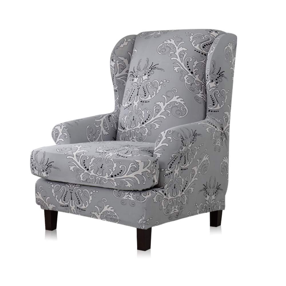 Terrific Amazon Com Tikami Wing Chair Slipcovers 2 Piece Spandex Ibusinesslaw Wood Chair Design Ideas Ibusinesslaworg