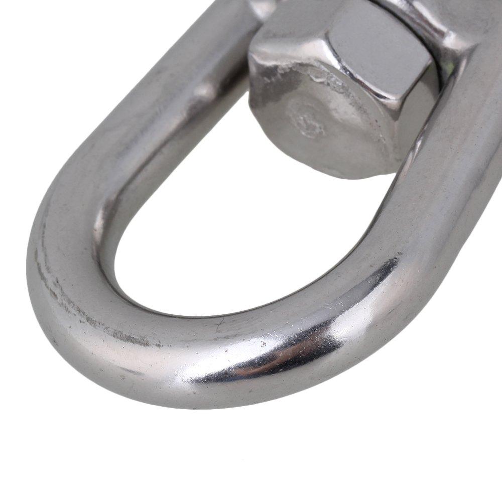 BQLZR Silver American Type 304 Stainless Steel Swivel Eye Type Lifting Hook 1000KG Working Load Limit by BQLZR (Image #4)