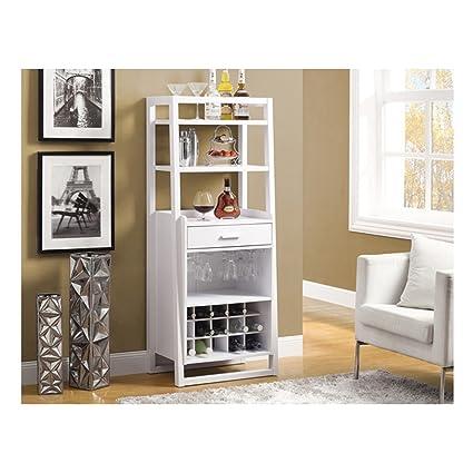 Amazon.com: Monarch Ladder Style Bar Unit, 60-Inch, White: Kitchen ...