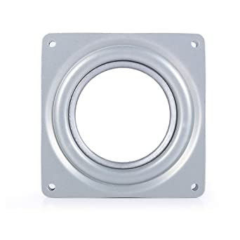 UEETEK Rodamiento giratorio de la placa giratoria de 360 grados para el estante y los muebles de exhibición 95m m