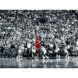 Michael Jordan Last Shot 24x36 Poster Chicago Bulls