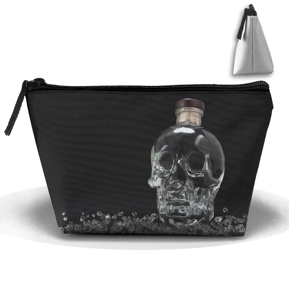 Homlife Portable Travel Skull Glass Bottle Artwork Storage Pouch Cosmetic Toiletry Bags Organizer Travel Accessories by Homlife