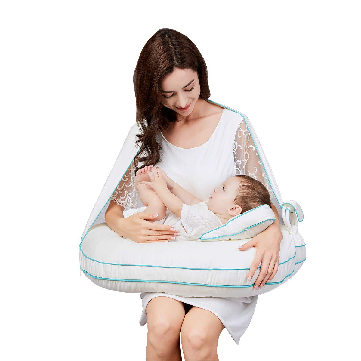 【ふるさと割】 ベビーハグ ナーシングピローバリア ベビーハグ 授乳クッション 防ダニ素材 外部ウィルス防止 1 敏感肌 ベビー枕 ベビークッション 1 敏感肌 B07QPX74WW, リュウジンムラ:06cbf332 --- a0267596.xsph.ru
