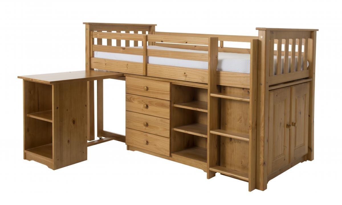 Design Vicenza Arno Sleep Station, Holz, Weißszlig;, Einzelbett Natur