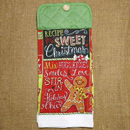 (Christmas Recipe Hanging Dish Towel, Holiday Kitchen)