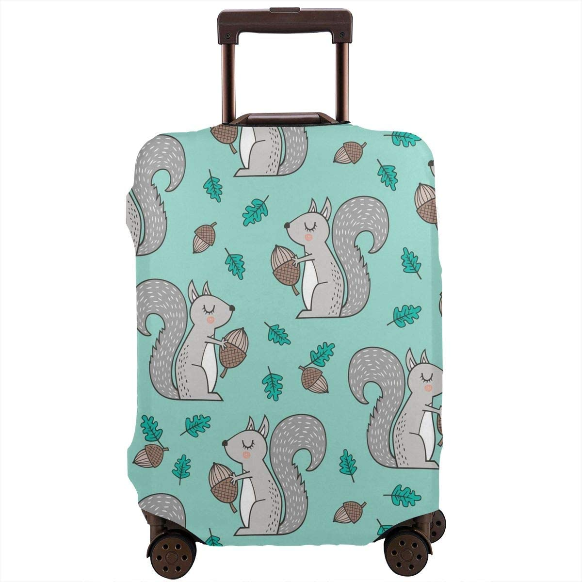 4 Size Forest Squirrels With Leaves Printed Business Luggage Protector Travel Baggage Suitcase Cover