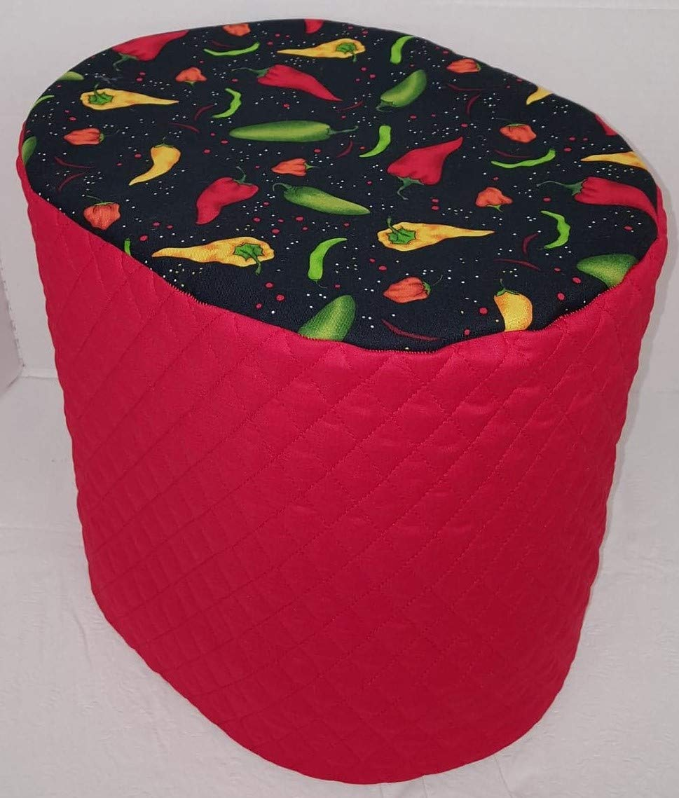 Hot Peppers Food Processor Cover (Red, Small)