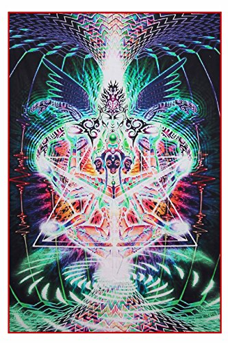 Yoga Lady yoga decor Psychedelic Wall hanging Indian Mandala collection
