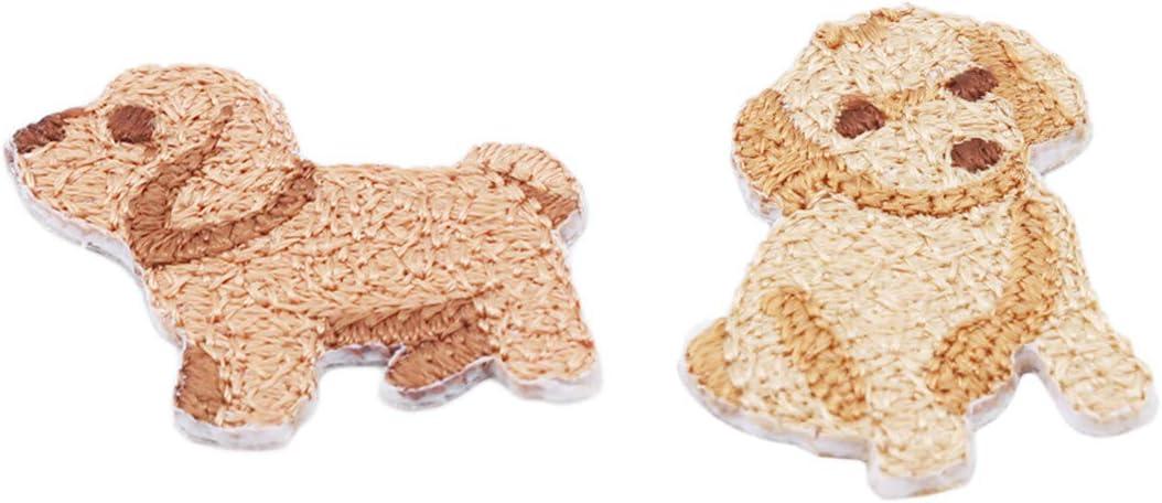 chihuahuas EJY Mignon Animal Brod/é Enfants Subventions DIY D/écoration Accessoires Repassage Autocollants En Tissu Patch