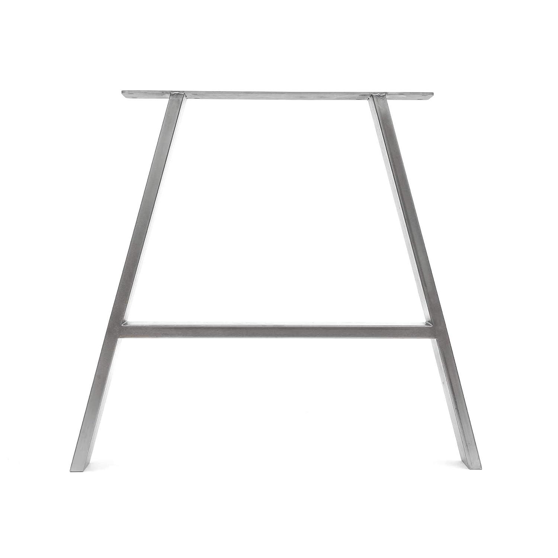 gu/ía de construcci/ón y protectores de suelo 2 x patas de mesa industriales de trapecio: acero acondicionado de superficie soldadura TIG con tornillos GRATUITOS Mesa, Abrigo limpio HLC