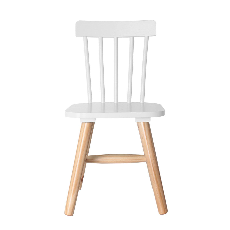 THE HOME DECO FACTORY - HD3004- Child's Wooden Chair - MDF - 29cmx 33cmx 58cm, Wood, white, 29x33x58 cm CMP Paris HD3005