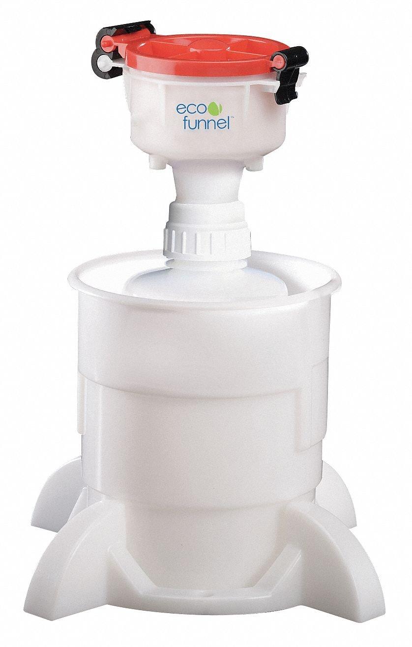450mL Plastic Safety Funnel, Stem OD: 14.287mm, Stem Length: 279.4mm