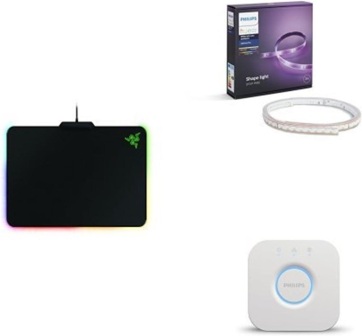 Razer Firefly - Alfombrilla de ratón gaming + Philips Hue - Puente de conexión + Philips Hue White and Color Ambiance - Lightstrip Plus: Amazon.es: Informática