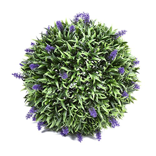 WINOMO 30cm Lavender Ball Topiary Artificial Hanging Ball Shaped Topiary for Indoor Outdoor Decor