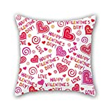 NICEPLW love throw cushion covers 18 x 18 inches / 45 by 45 cm for teens girls,relatives,lounge,car,husband,club with both sides