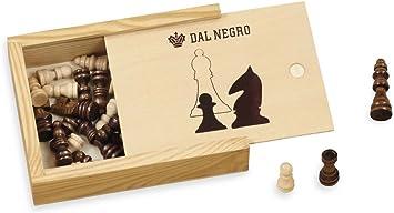 DAL NEGRO Set Ajedrez de madera. Juego de mesa Clasico: Amazon.es: Juguetes y juegos