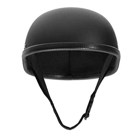 ae904dc59d9 Image Unavailable. Image not available for. Color  SAFETYON Motorcycle Half  Skull Cap Helmets Motorcycle Helmet Skull Cap Low Profile Novelty Matte  Black ...