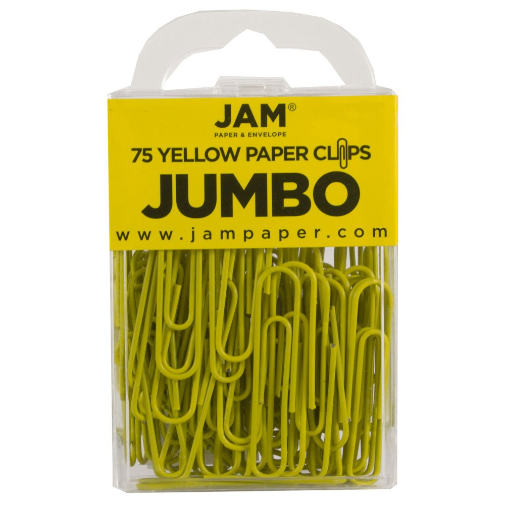 Grand 50 8 mm Trombones Rouges 75//Paquet JAM Paper /& Envelope FBA/_2183754 JAM PAPER Trombones Jumbo Color/é s