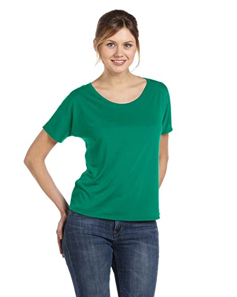 8a80366c Bella + Canvas Women'S Slouchy Tee (Kelly) at Amazon Women's ...