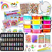 Slime Kit - Slime Supplies Slime Making Kit for Girls Boys, Kids Art Craft, Crystal Clear Slime, Glitter, Unic