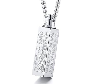 Amazon.com: EoCot - Collar con colgante de acero inoxidable ...