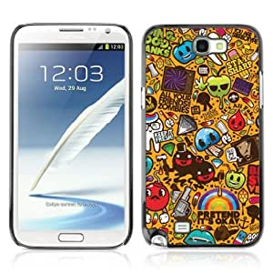 Designer Depo Hard Protection Case for Samsung Galaxy Note 2 N7100 / Cool 420 Graffiti Pattern