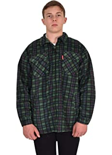 Generic - Chaqueta - Cuadros - para hombre Green - 109 Sherpa Medium: Amazon.es: Ropa y accesorios