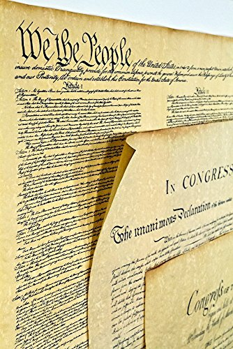 Replica Bundle - Historical Documents Documents of Freedom Bundle. Declaration of Independence, United States Constitution and the Bill of Rights.