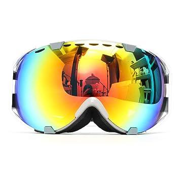 Audew Ski Lunettes Masques de Protection Snowboard   Alpinisme Goggle  Anti-UV Brouillard Double 1ebd1781bc29