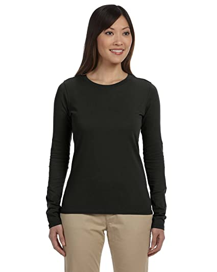 03f703792be441 Amazon.com  Econscious EC3500 Ladies Cotton Long Sleeve T Shirt ...