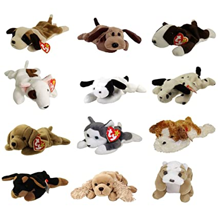 0ac3b19d5a4 Amazon.com  TY Beanie Babies - DOGS  1 (Set of 12)(Bernie
