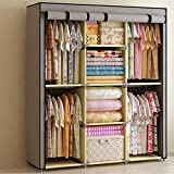 Generic Reinforced Portable Clothes Closet Wardrobe Armoires Storage Rack Organizer New