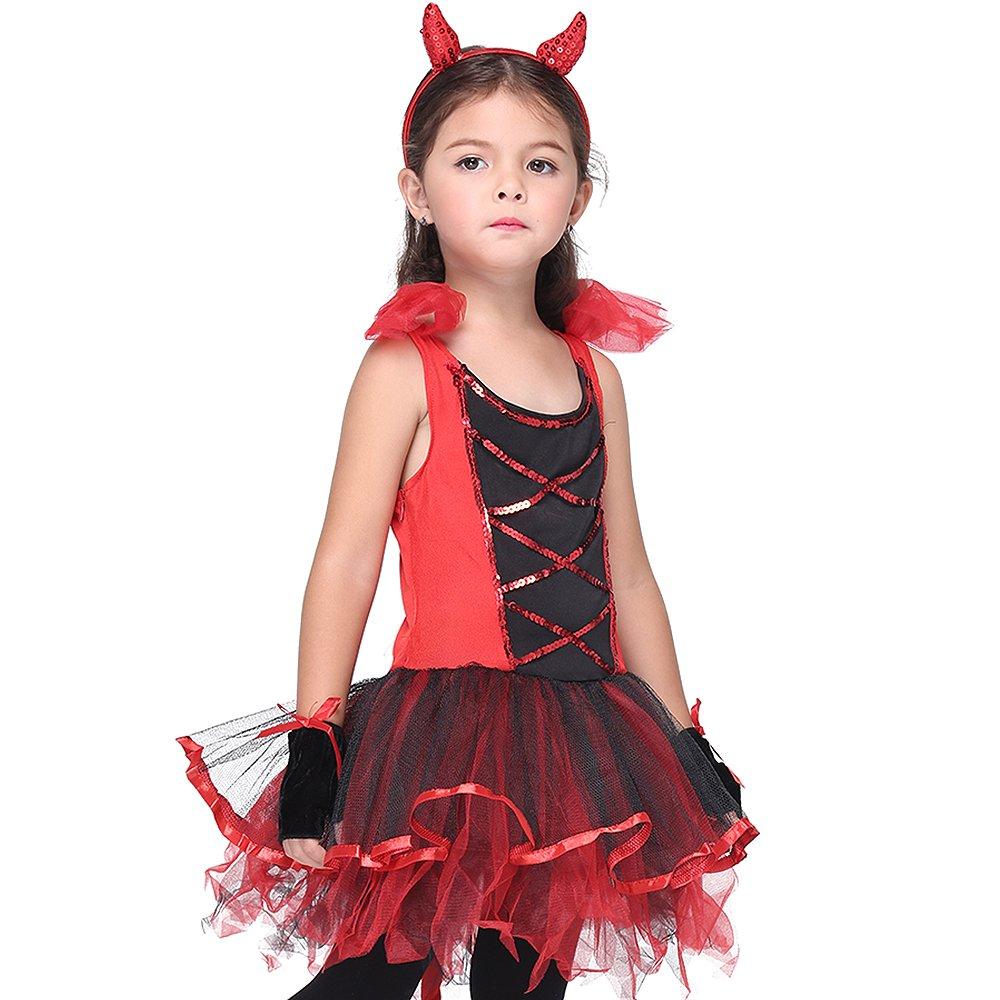 Girl's Halloween Cosplay Costume Suit Children's Dancewear Dancing Dress (Large) by KeepMoving (Image #3)