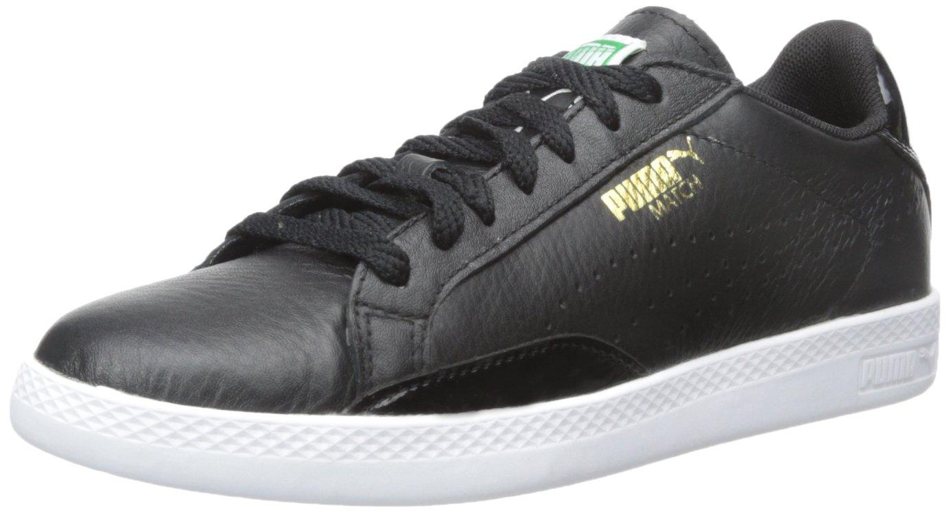 PUMA Women's Match Lo B and W Sportstyle Sneaker B00NTB94FO 9.5 M US Black/Black/White