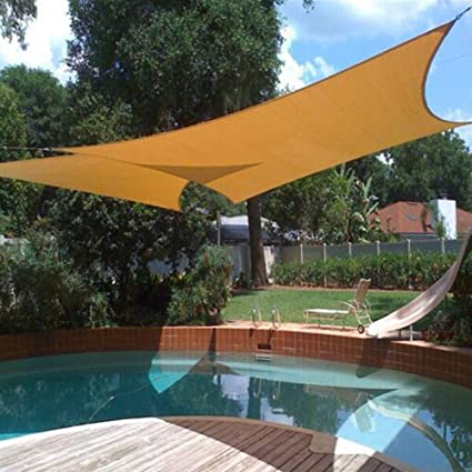 CHENG Toldo de Vela de Sombra 3x7m, Toldo Rectangular Telas Lona Cubierta Protección Anti-UV 95% para Patio, Exteriores, Jardín Beige: Amazon.es: Hogar