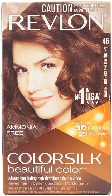 Revlon Colorsilk - Colorsilk para el cabello (castaño dorado medio)