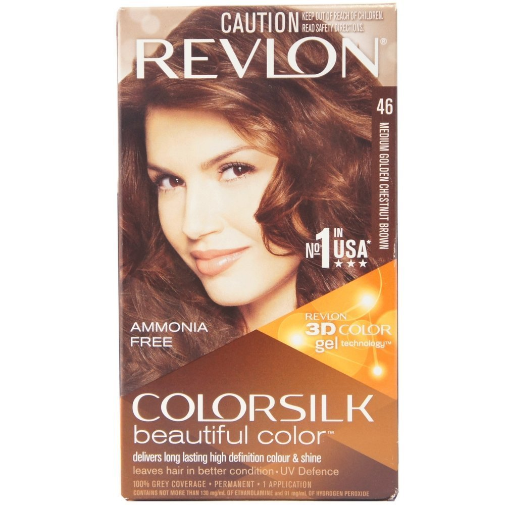 Revlon Colorsilk Hair Coloring (Medium Golden Chestnut Brown)