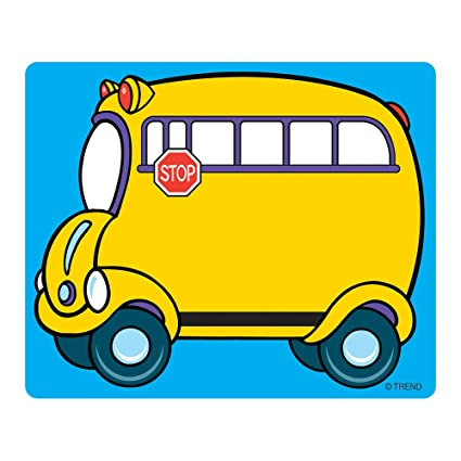 photograph about School Bus Printable titled Manner companies, Inc. University Bus Great Labels, 36 ct