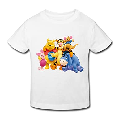 Kids Toddler Winnie The Pooh Little Boys Girls T Shirt White Size 5-6  Toddler