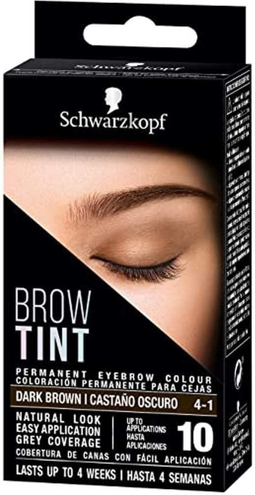 BROW TINT tinte cejas #4-1-castaño oscuro: Amazon.es: Salud y ...