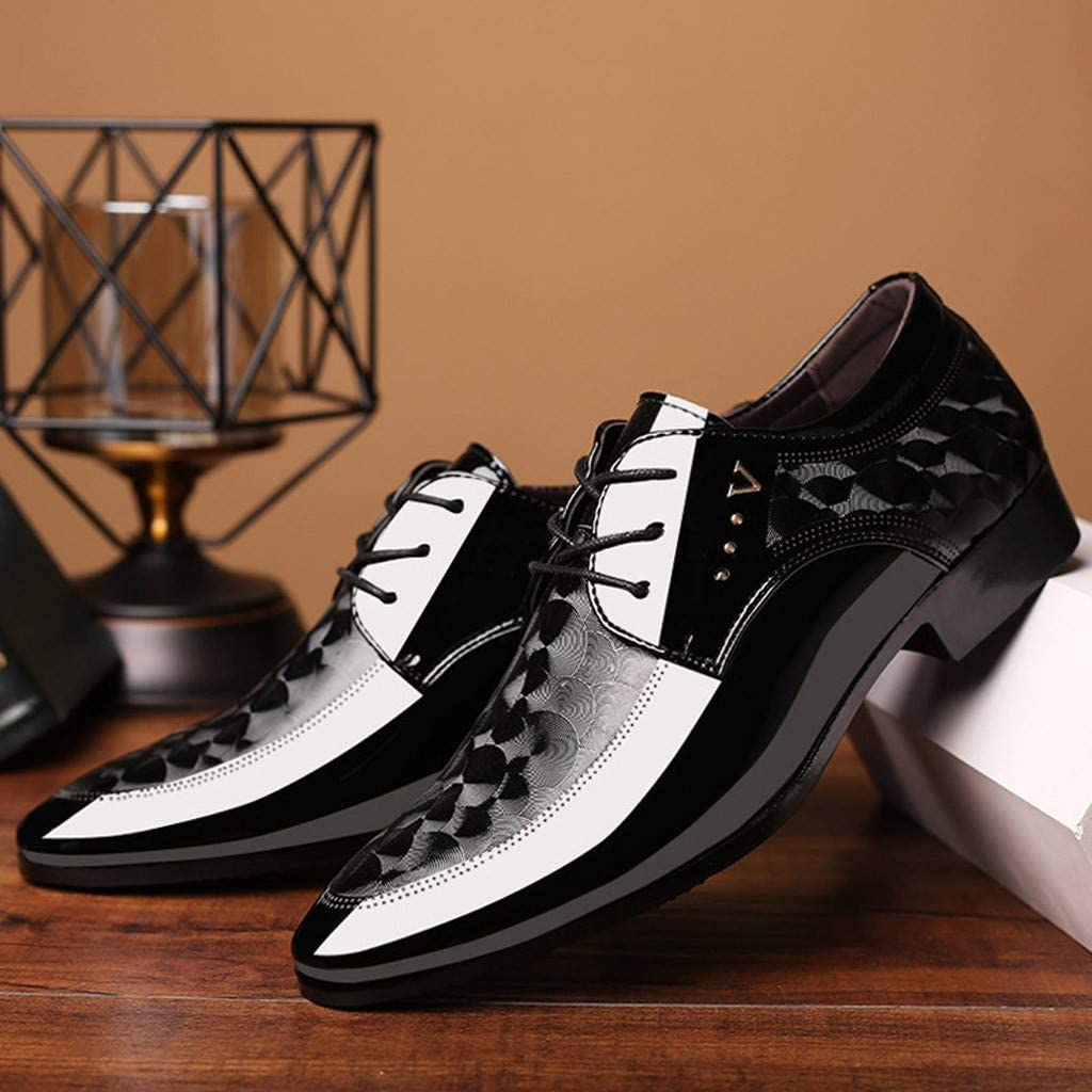 Benficial Men Lace Business Leather Shoes Casual Comfortable Dress Shoe Male Suit Shoes 2019 Summer