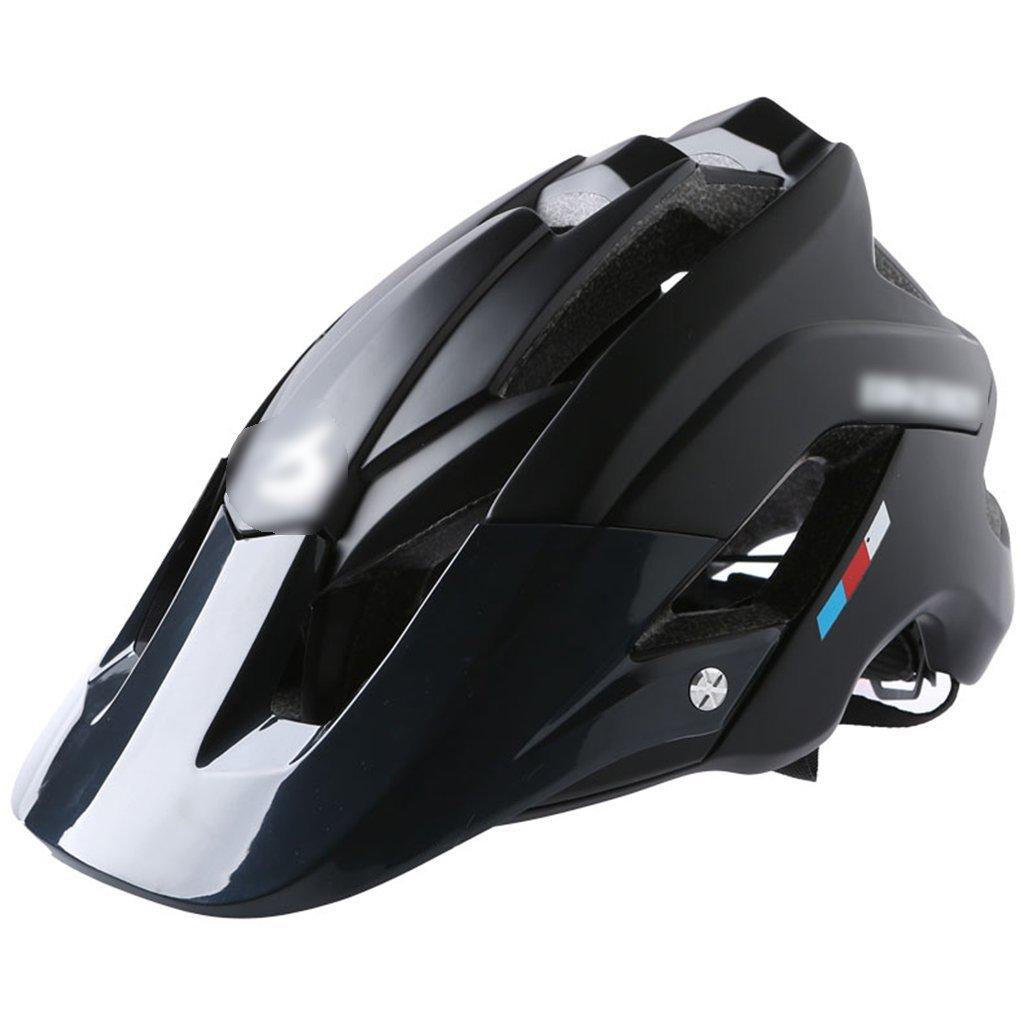 JianMeiHome Radsport Helme Zubehör Fahrradhelm Fahrrad Mountainbike integrierte Formteil Männer und Frauen Rennrad Helme Fahrradausrüstung (Farbe   schwarz, Größe   54-62cm)