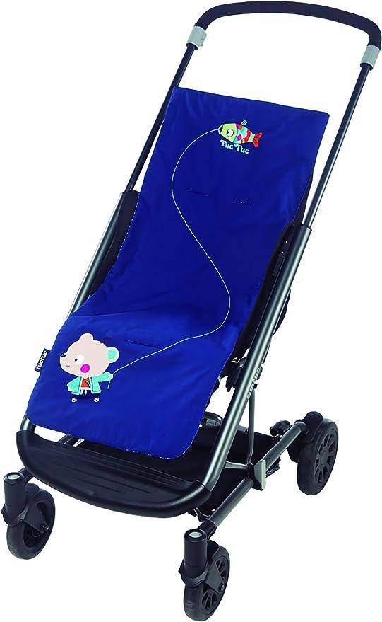 Tuc Tuc Kimono - Colchoneta reversible de verano para silla de paseo, color azul: Amazon.es: Bebé