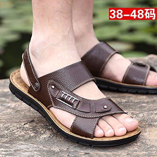 Scarpe da ping-pong scarpe da spiaggia di grandi dimensioni Scarpe da spiaggia grandi, marrone, UK = 6.5, EU = 40
