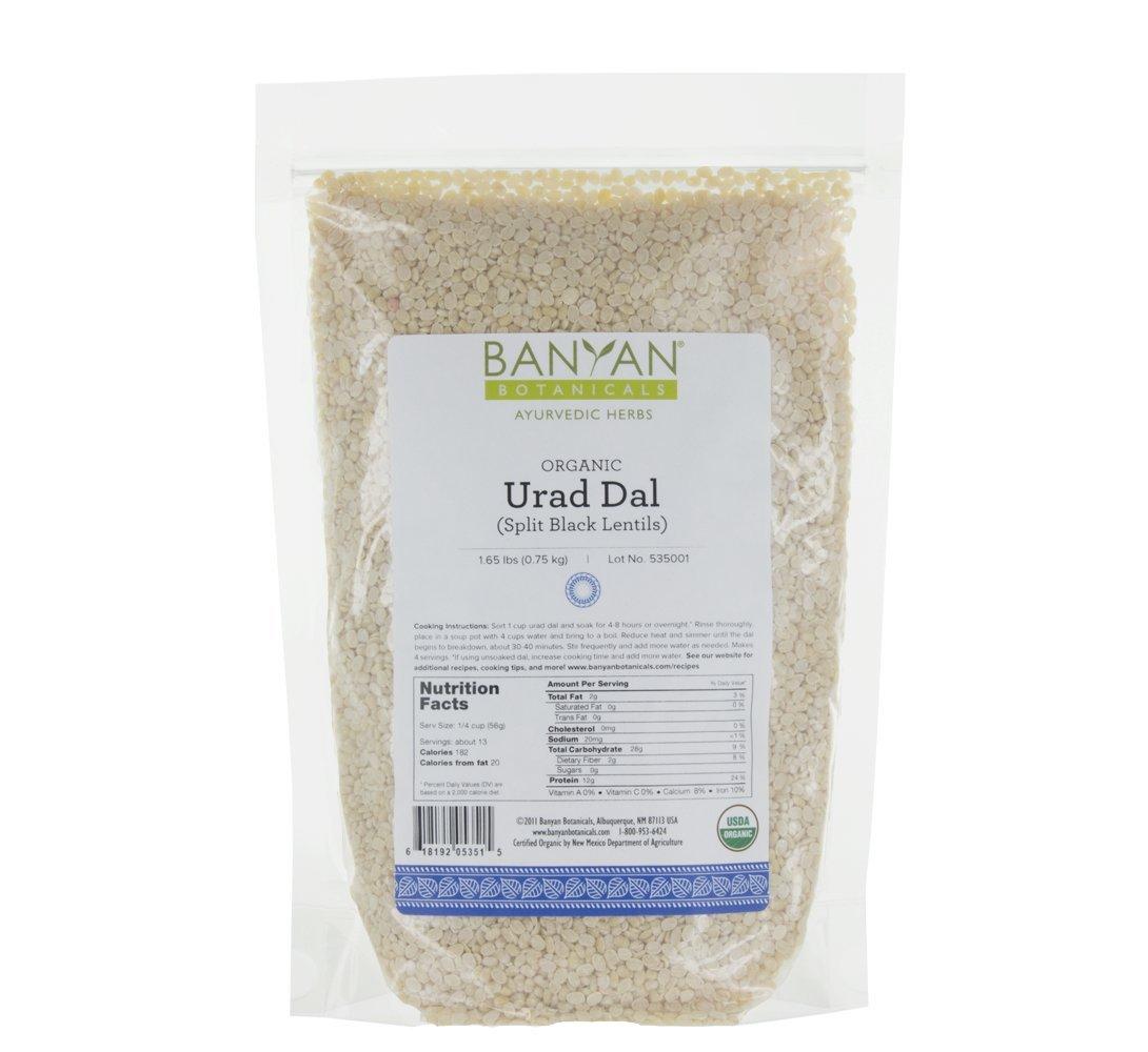 Banyan Botanicals Urad Dal (Split Black Lentils) - USDA Organic - Non GMO - Split & Hulled Matpe Beans