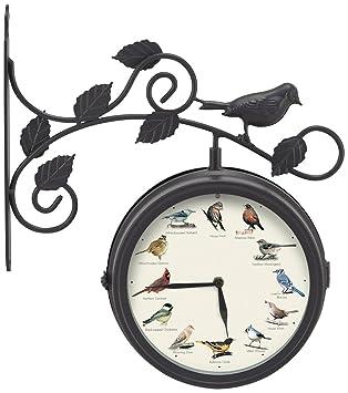 Mark Feldstein U0026 Associates Decorative Outdoor Bird Clock And Weather  Thermometer