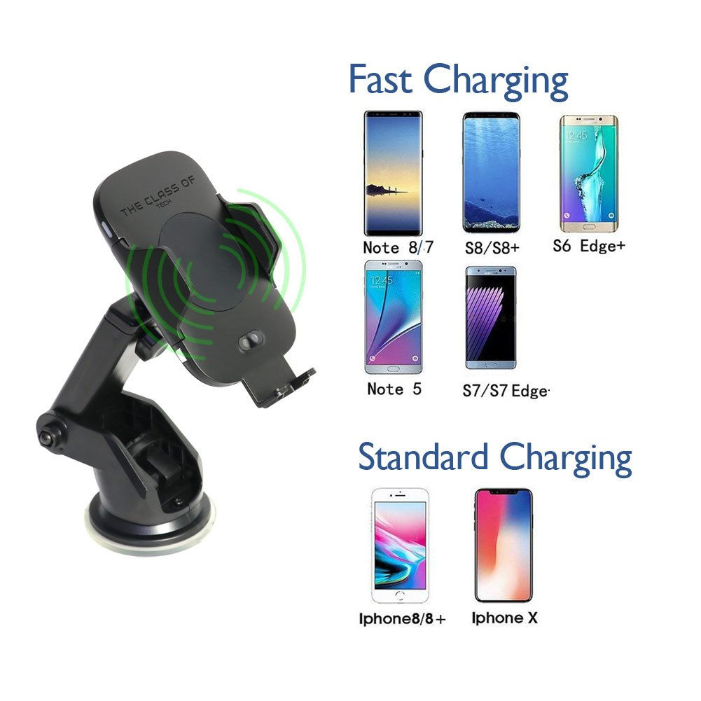 Ltd Fast Charge Samsung S9 S9 Plus S8 S8 Plus Note 8 Note 5 Shenzhen Juke Electronics Co The Elixir TCO Wireless Fast Car Charger Wireless Fully Automatic Qi Wireless Charger One Touch Car Windshield//Dashboard//Air Vent Phone Holder 4351560096
