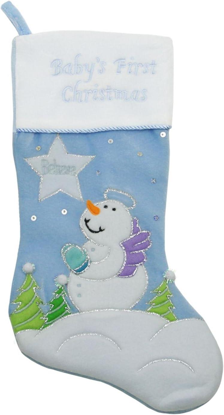 White Christmas Stocking Reversible Stocking Snowman Stocking Blue Christmas Stocking Christmas Stocking